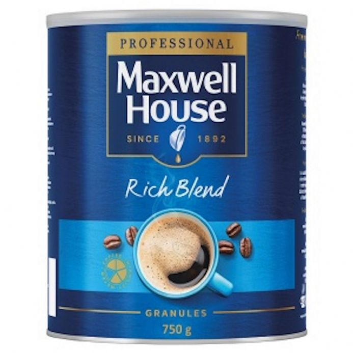 Maxwell House Rich Blend Coffee Granules 750g Tin, Instant Coffee